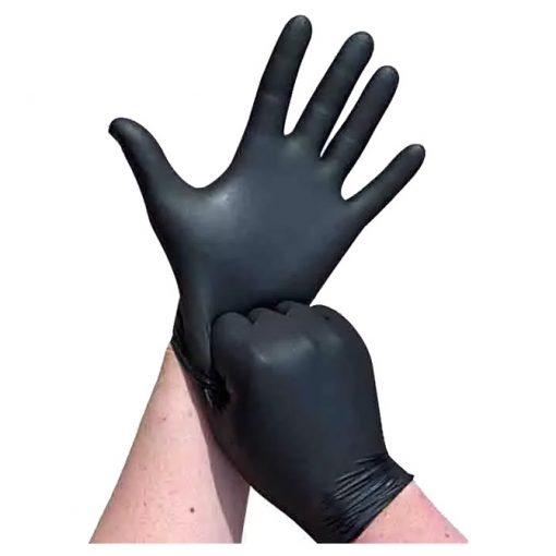 Slika Pribor za čišćenje-rukavice nitril-bez pudera pk100 crne L